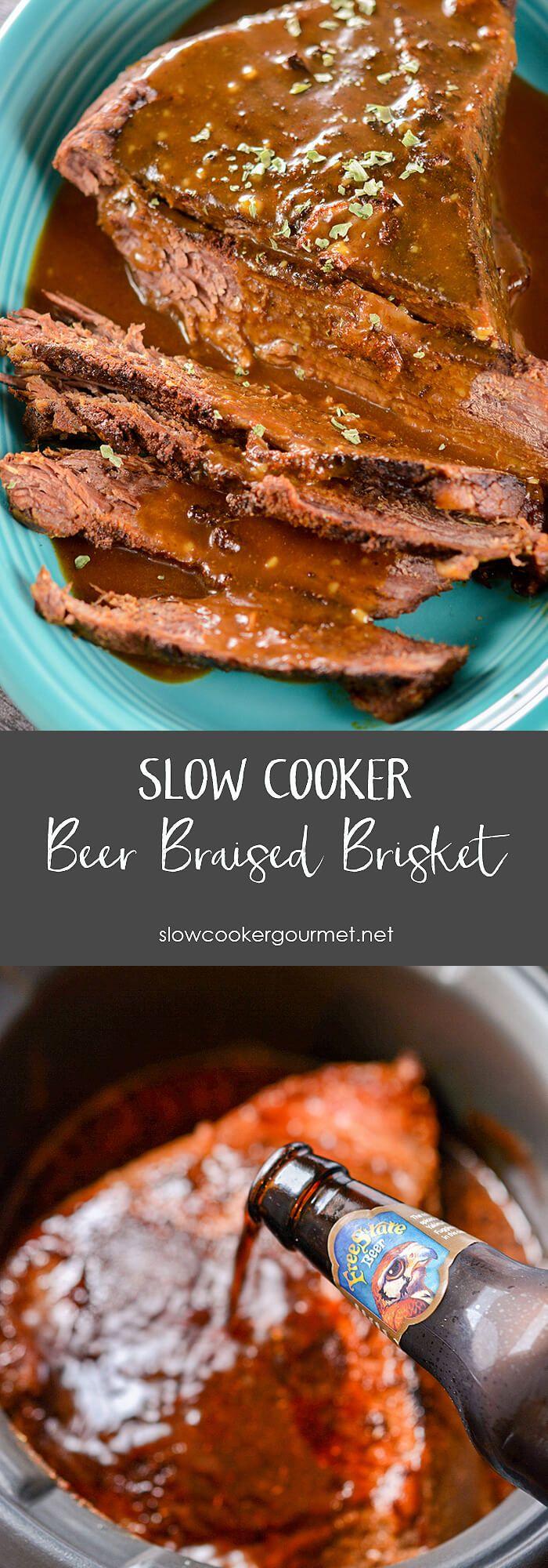 Slow Cooker Beer Braised Brisket