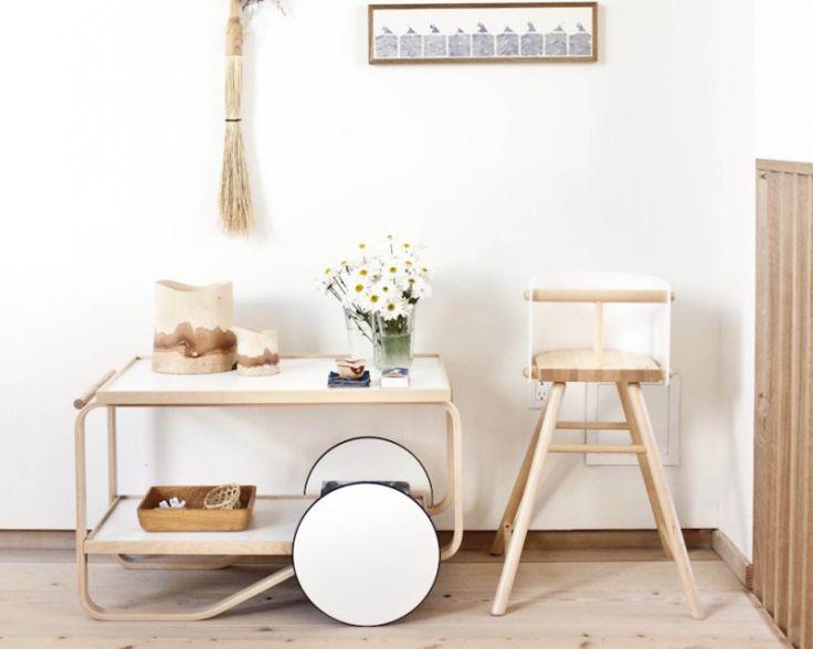 Matières naturelles - Aalto chariot de thé  via Goodmoods / Artek - Prix : 3174€