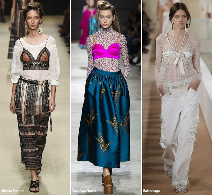 Spring/ Summer 2016 Fashion Trends: Bras Over Tops  #trends #fashiontrends