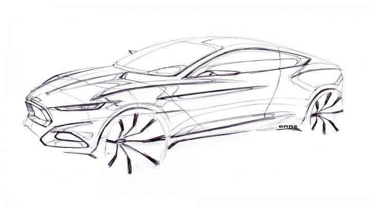 Ford Evos Concept Design Sketch.