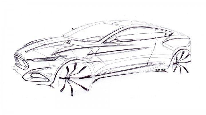 Ford Evos Concept Design Sketch.