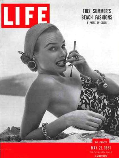 Life Magazine Copyright 1951 Summer Beach Fashion Hot - Mad Men Art: The…