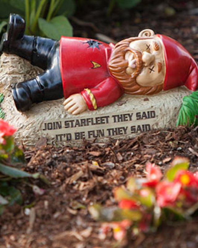 Only the crazy minds at Think Geek would come up with the wonderfully ridiculous idea to make and distribute Star Trek garden gnomes. These things are funny as hell, and if I had a yard to put them in, I would totally buy them. Just seeing these Star Trek characters reimagined as gnomes is great. Here's a description that came along with the product: The perfect statuary to go with your newly-acquired Star Trek plants? Why, that would be the Star Trek Garden Gnomes, of course! They come in…
