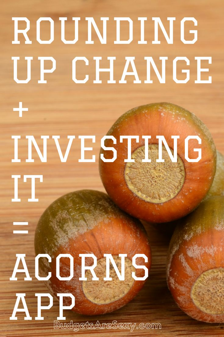 Got a new company to share with y'all today, and it's giving my Digit a run for its money ;) It's called Acorns, and it's an app that rounds up your transactions to the nearest $1.00 and drops your spare change into investments. It's all automatic, and it's all awesome! http://www.budgetsaresexy.com/2015/03/acorns-app-review/