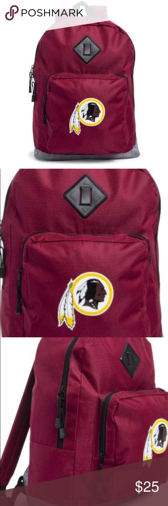 Washington Redskins Laptop Backpack Bag New nwt th…