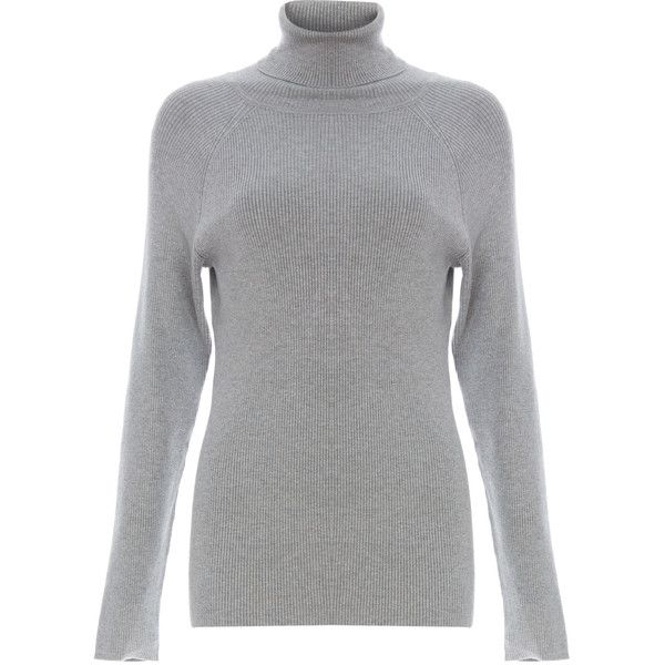 525 America Ribbed Turtleneck Sweater (£66) ❤ liked on Polyvore featuring tops, sweaters, grey, grey ribbed turtleneck, gray turtleneck sweater, turtleneck sweater, turtle neck sweater and polo neck sweater