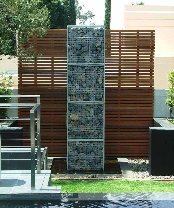 Mur et clôture gabion: idées pour le jardin en 33 photos! | Brise ...