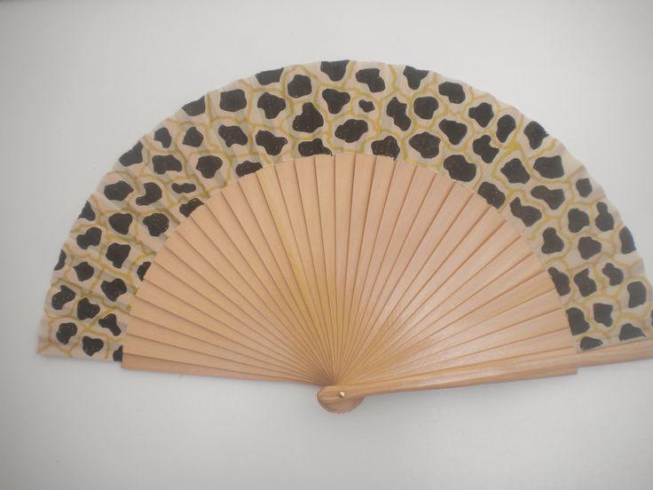 Leopard print hand fan by Kate Dengra at @dengra_designs