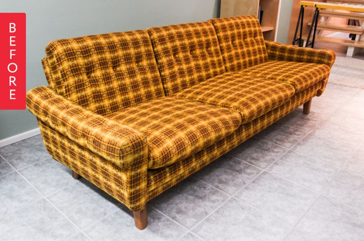 Before & After: A Screaming Plaid Sofa Gets a Makeunder — From the Archives: Greatest Hits