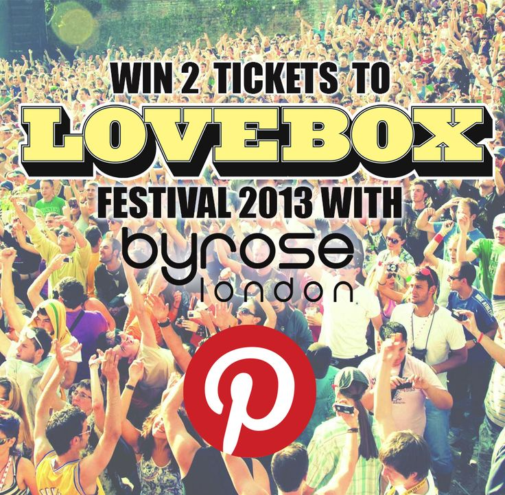 Like our facebook and complete the competition App for a chance to win TWO tickets to Lovebox in July! https://www.facebook.com/byroselondonn/app_599788450050788 Don't miss out! Competition ends 30/06/13