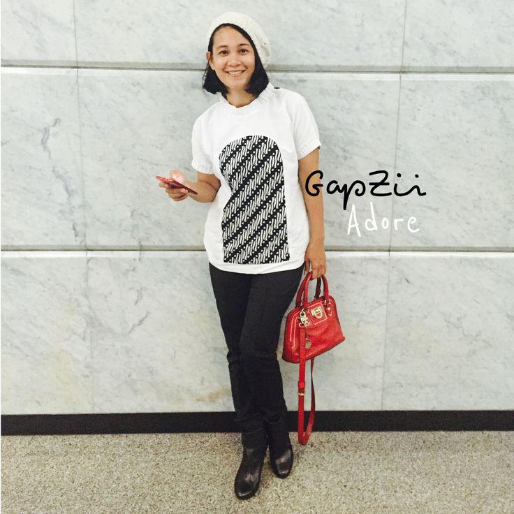 Batik motif parang mix linen