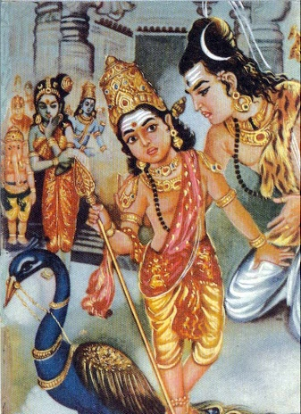 murugan teaching  shiva