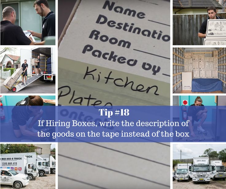 Most #moving companies sell boxes, and some #hire boxes out. Often with the hire service, the boxes have to be returned in quality condition. A lot of people will take care of the box itself but will not get a refund because they have marked the box with a marker pen. This weeks moving tip will ensure you won't lose your refund to a silly catch!
