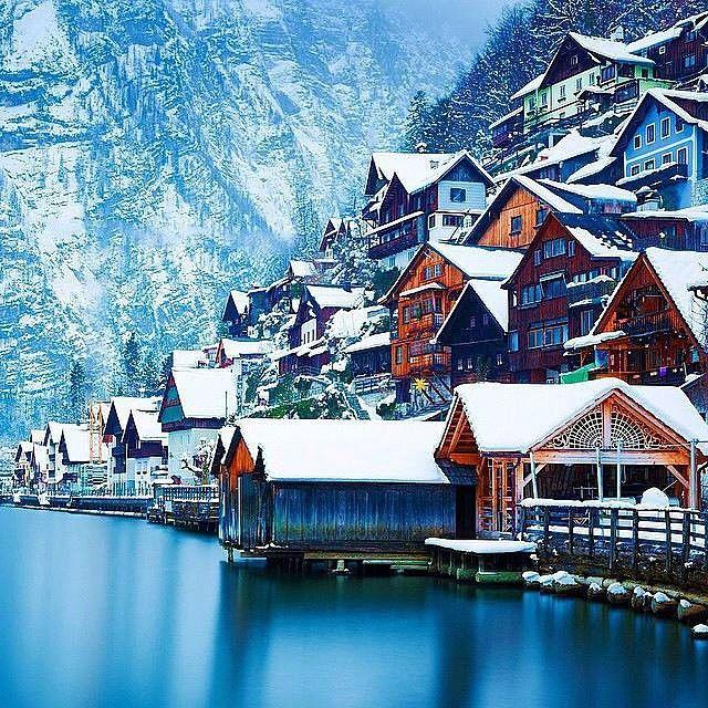 Best Places In The Us To Snowboard: Winter In Hallstatt, Austria #EarthPix