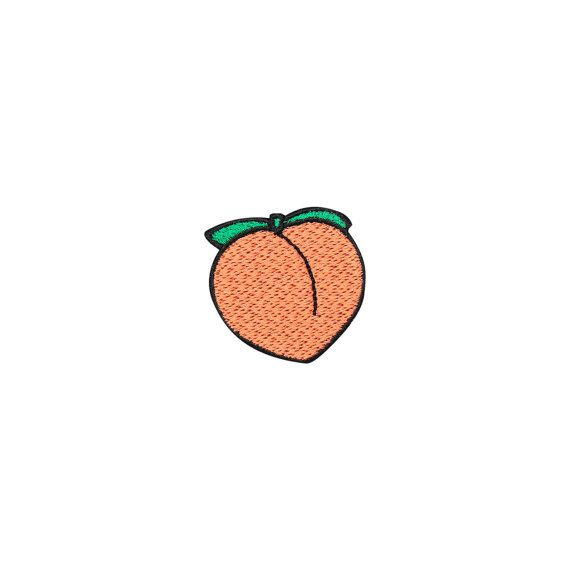 PEACH EMBROIDERED PATCH iron on badge gift tumblr hipster grunge kawaii cute baby girl vegan avocado doll barbie pink feminist fruit peachy