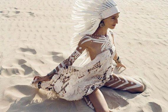 SILK SCARF - Shawl Boho Hippie Faery Fairy Pixie Scarves Shabby chic Ooak Burning man - Beige Off white Snake skin print