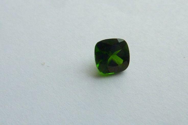 0.56 Cts  Square Cushion Shape 100% Natural Green Chrome Diopside Loose Gemstone #KinuBabaGems