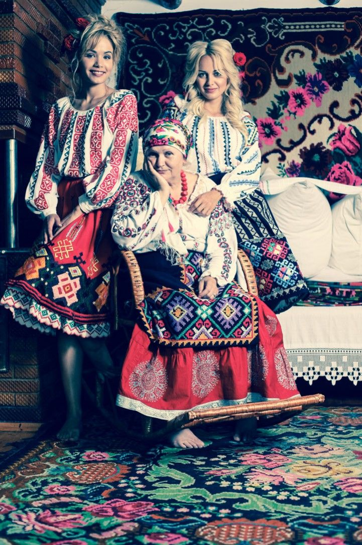 Traditional romanian costumes from Moldova
