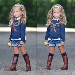 Sweater + shorts + boots