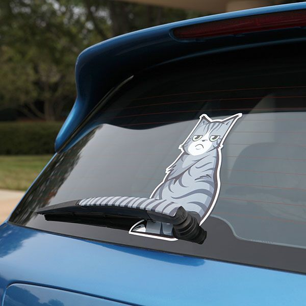 Moving Tail Kitty Car Decal – $10