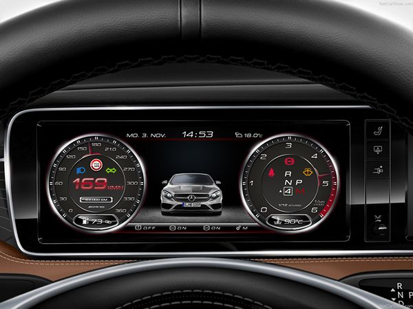 Mercedes Benz Amg Digital Speedometer Concept Ii On