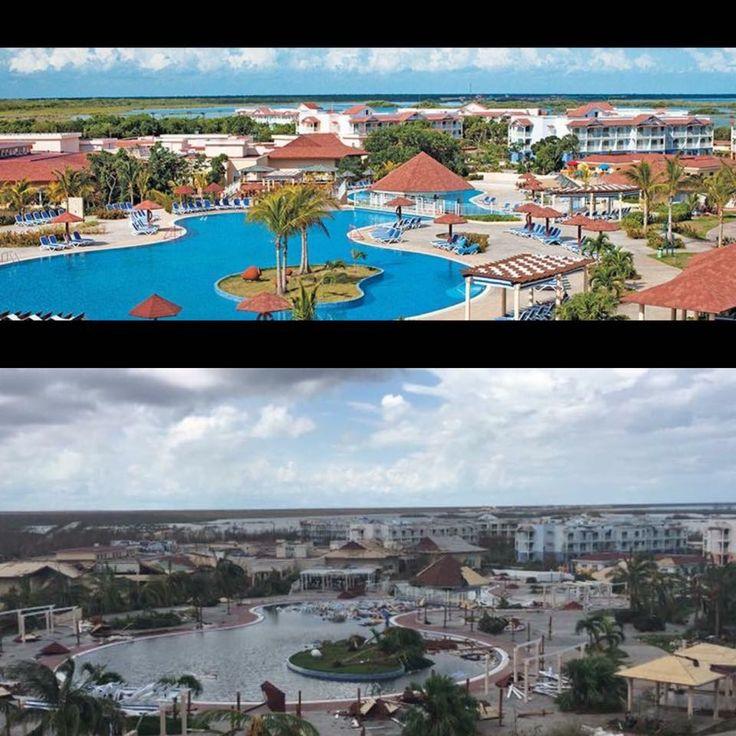 Cayo Coco Memories Flamenco Beach resort: before and after hurricane Irma :'(