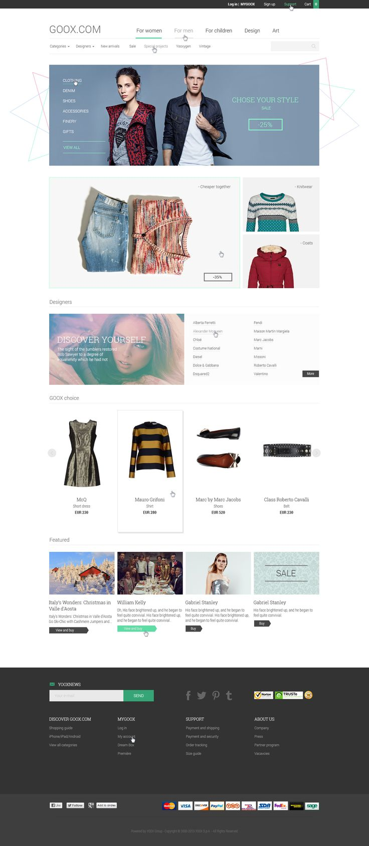 Сайт интернет-магазина одежды в стиле минимализма #web #design #business #minimalism #working #marketing #cool #creative