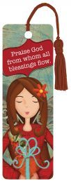 """BOOKMARK:  PRAISE GOD (PBM006).  Available from Faith4U Book- and Giftshop, Secunda, SA. Email """"faith4u@kruik.co.za"""""""
