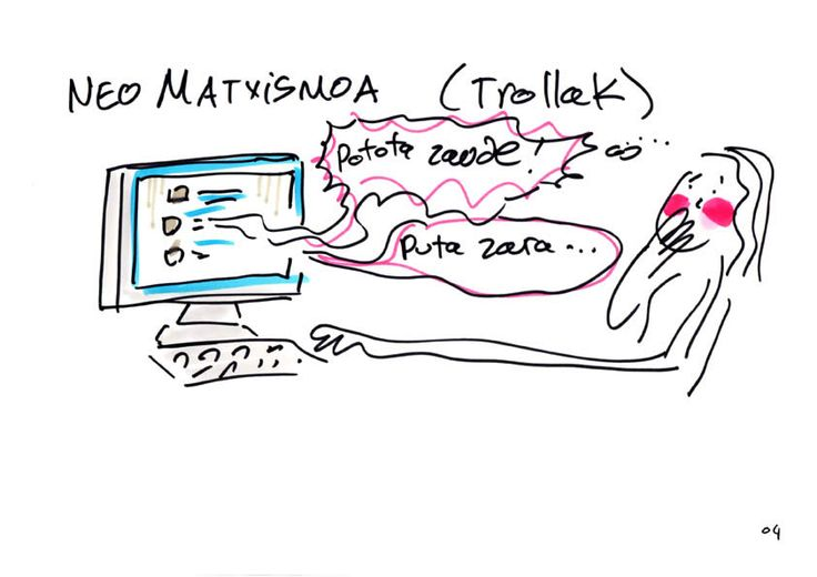 Neo-matxismoa interneten. #GraphicRecording #euskaraz #Kabian4 #Feminismoa #eztabaida #gazteak #Bizkaia #Aldundia #ciberfeminismoa #maskulinitateberria #Polimaitasuna