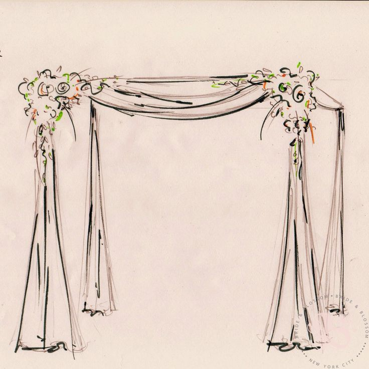 #Chuppah #sketch for an #nycwedding #luxuryflorist