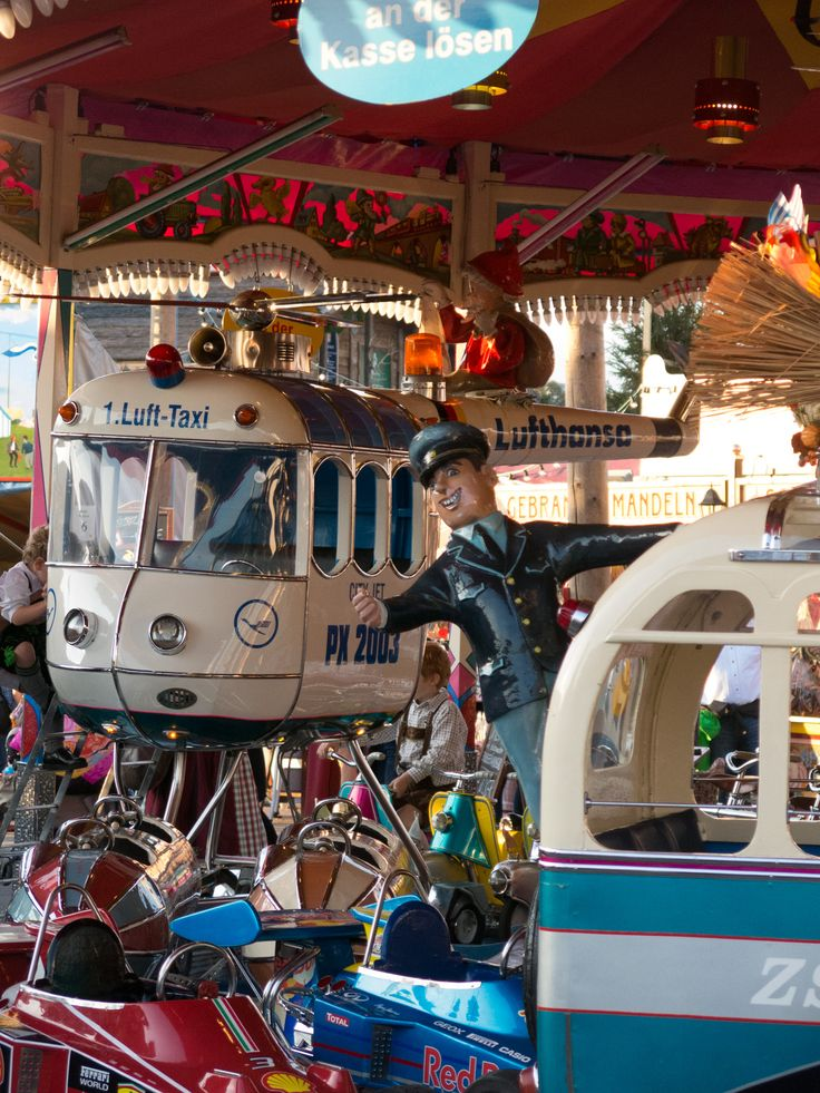 """Merry-go-round on the """"old Oktoberfest"""". The old Oktoberfest is actually a lot nicer than the new one!"""
