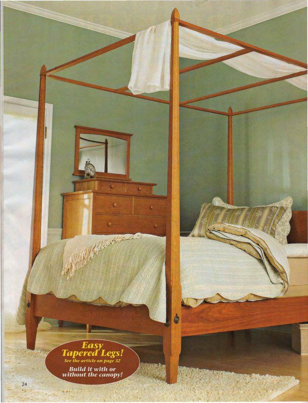 DIY Pencil Post Shaker-Style Bed plan