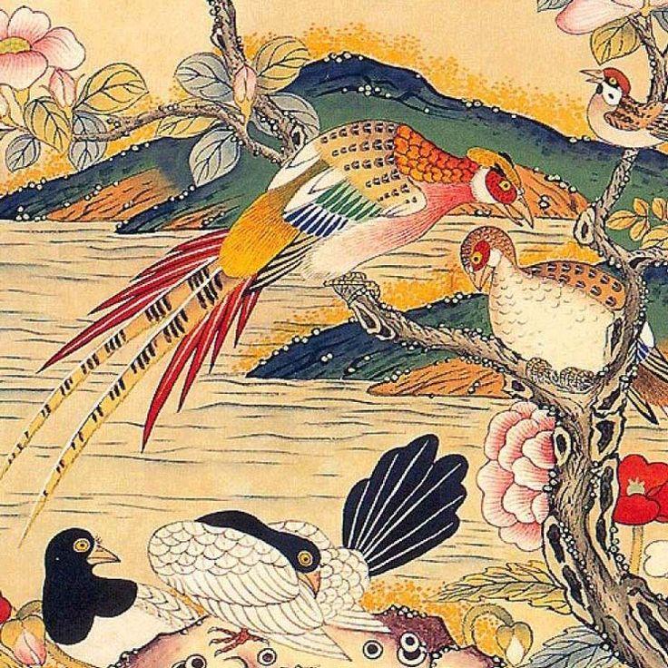 minwha_korean_folk_art__flowers_and_birds_by_kimsingu-d7mr6aj.jpg (743×743)