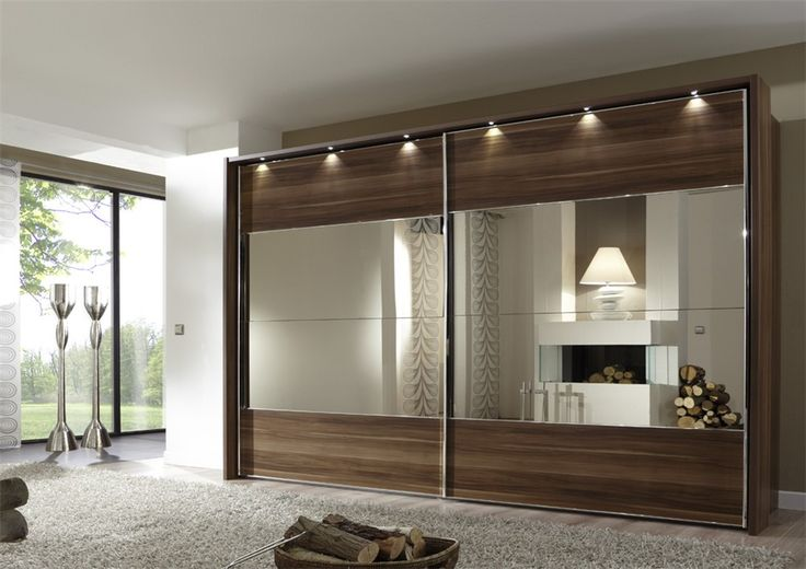 Like the incorporated lights... Stylform VENUS - Sliding Door Glass/Wood and Mirror - Head2Bed UK