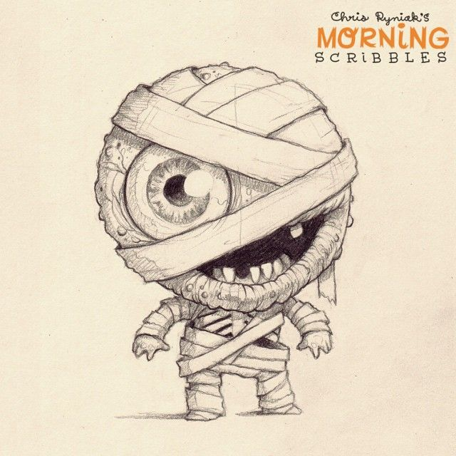 Hardcore gangster wrapper. Get it? #morningscribbles #dadjokes #countdowntoholloween