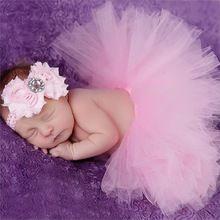 Novorozená Fotografie rekvizity Kojenecký kostým Outfit Princess Dětské Tutu sukně Květinové čelenka Dětské fotografie rekvizity (Čína (pevninská část))