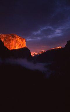 Wawona Pass Sunset in Yosemite