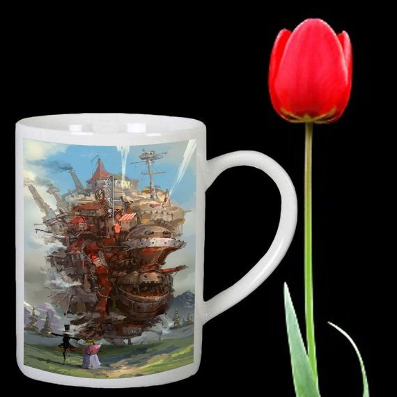 Howl's Moving Castle design for mug by Mbelgedes on Etsy