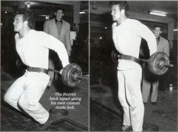 The Steve Reeves Hack Squat looks a lot like a sissy squat ...