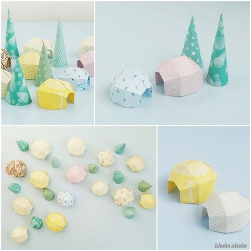 DIY-Advent_Calendar-Origami-Igloo_Village-DIY
