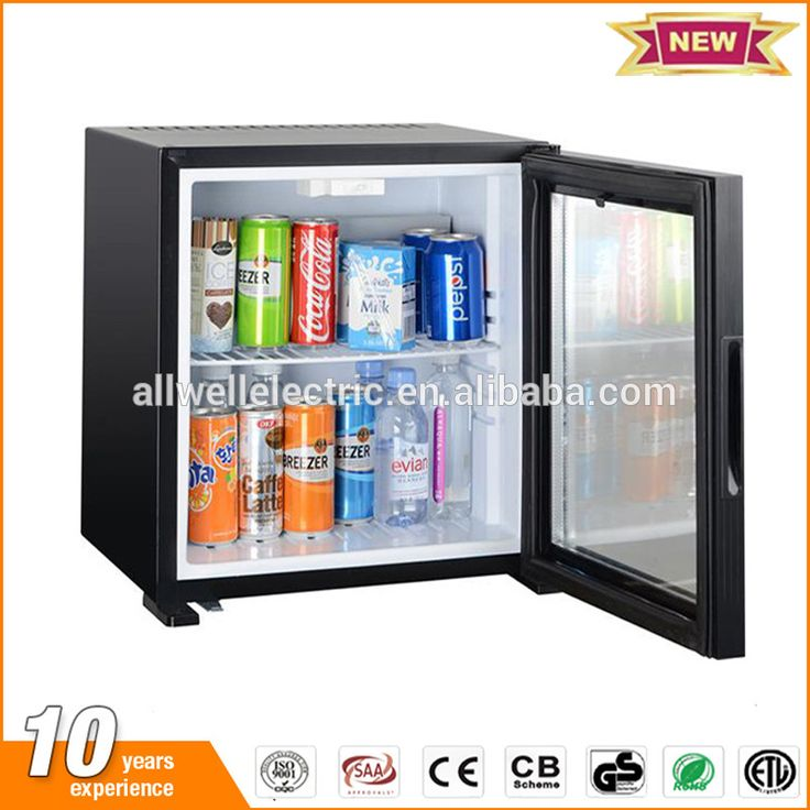 28L No noise glass door hotel absorption / thermoelectric mini fridge with lock