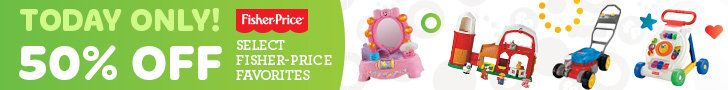 Save up to 50% Off Select Fisher-Price Favorites at Amazon