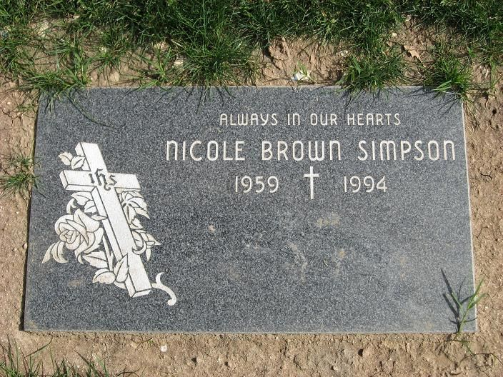 Nicole Brown Simpson, Ascension Cemetery, Lake Froest , Ca.