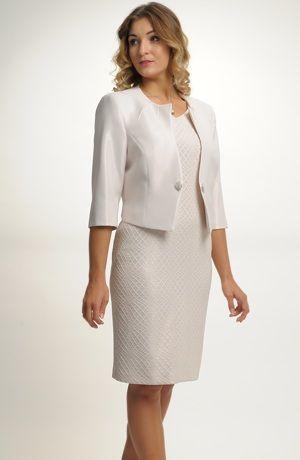 Elegantní dámský kostýmek i pro plnější postavy. 389a83e872