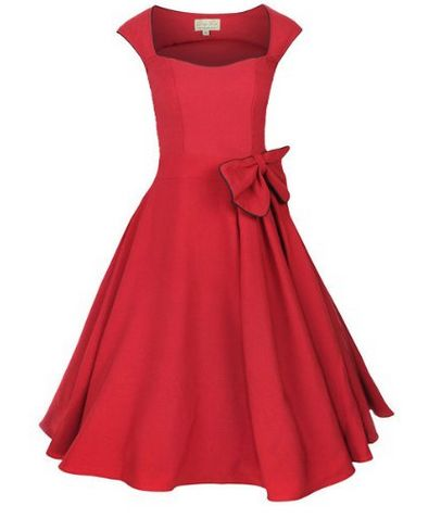 Lindy Bop Dresses (not in read, and not with the bow, but I like the basic form)