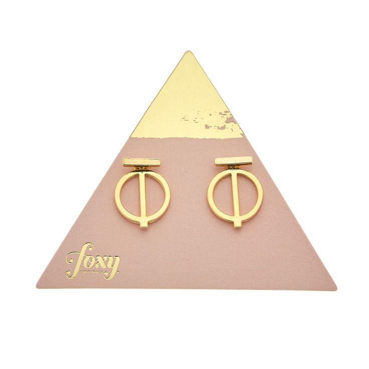 Lilo Ear Jacket in Gold - available in gold and silver. $24. #goldearrings #earjackets #foxyoriginals #goldearjackets #jewelrygift #gift #holidaygift #frontbackearrings