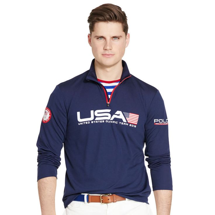 Team USA Polo Ralph Lauren 2016 Olympics Half-Zip Pullover - Navy