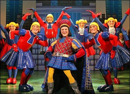Christopher Sieber as Lord Farquaad in Shrek the Musical- @Lauren Davison U Can't wait to see you in costume for this scene!!!!! SHOW WEEK IS THIS WEEK!!!!! @Lauren Davison U @Melinda W Johns