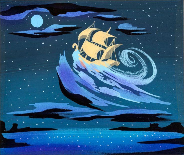 Peter Pan - Flying ship - Mary Blair concept art | Flickr - Photo Sharing!