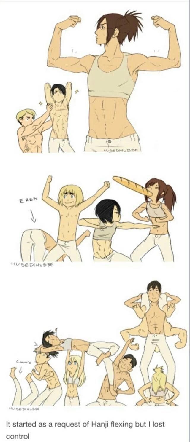 XD What is Eren doing?